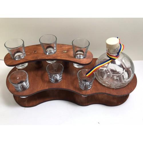 Suport sticla cu 6 pahare