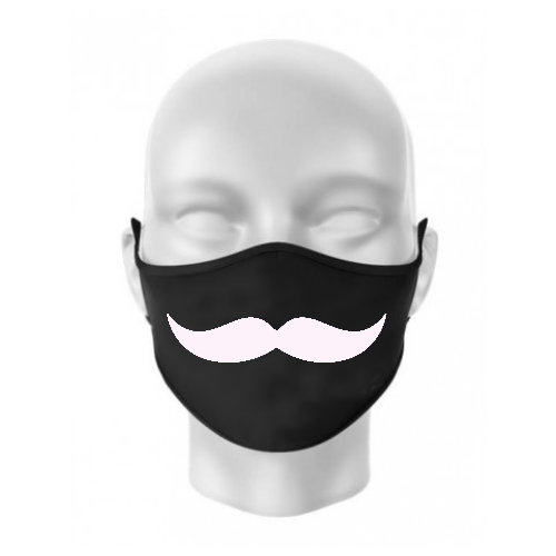 Masca personalizata mustata...