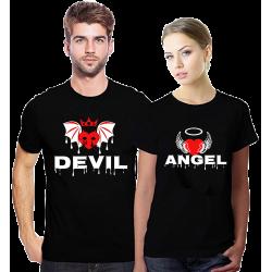 Set tricouri Devil Angel