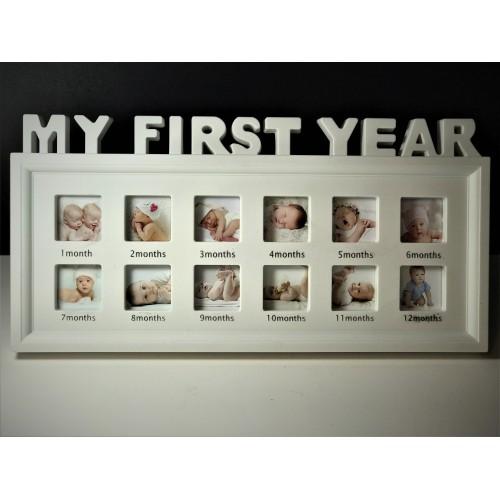 Rama foto colaj My first year