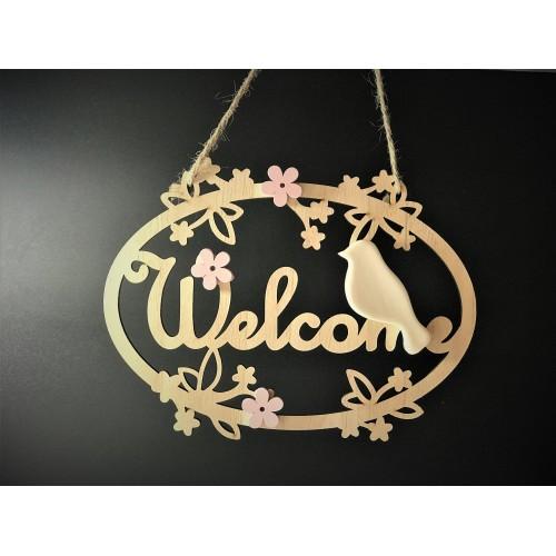 Decor pentru usa Welcome